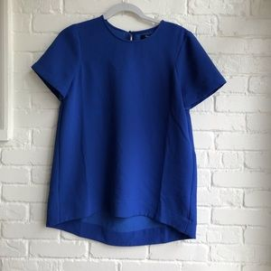 Madewell royal blue short sleeve blouse small